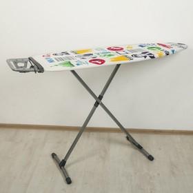 Доска гладильная «Ника 10», 122×40 см, металл, регулируемая высота, европодставка, рисунок МИКС
