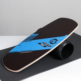 """Доска балансировочная балансборд с ковриком """"PRO"""" 74х32 см"""