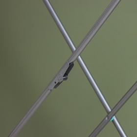 Сушилка для белья напольная складная 18 м, высота от пола 95 см, ширина 54 см, цвет серый - фото 7644289