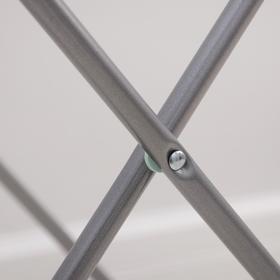 Сушилка для белья напольная складная 18 м, высота от пола 95 см, ширина 54 см, цвет серый - фото 7644291
