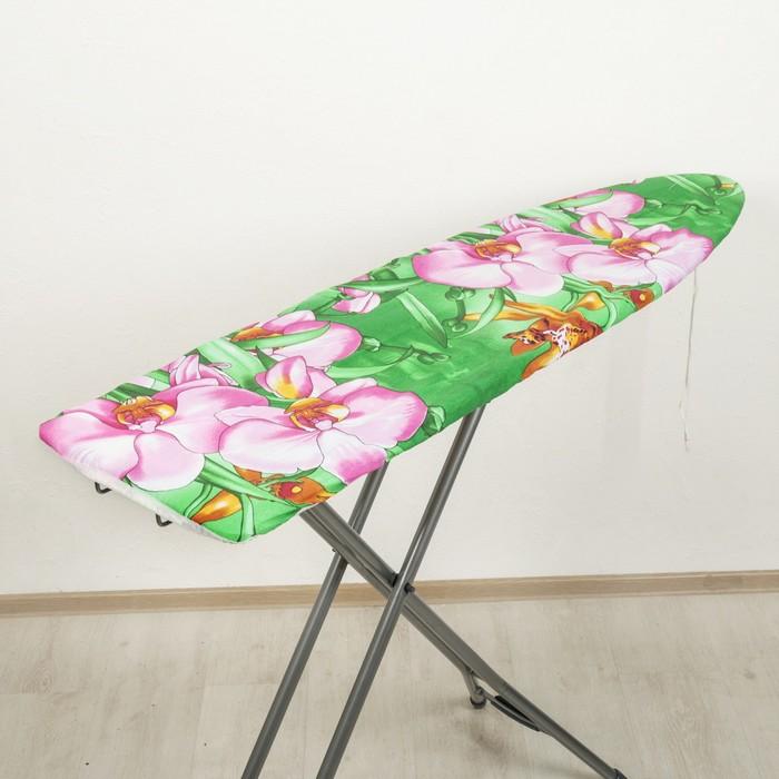 Чехол для гладильной доски 129х40 см универсальный, хлопок, цвета МИКС