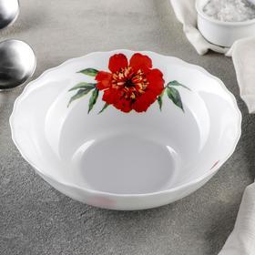 {{photo.Alt || photo.Description || 'Тарелка суповая Доляна «Бархатная роза», d=18 см, цвет белый'}}