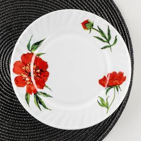 Тарелка десертная Доляна «Бархатная роза», d=20 см