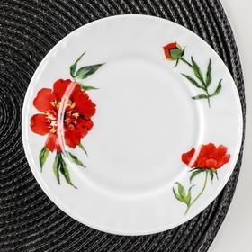 Тарелка пирожковая Доляна «Бархатная роза», d=15 см