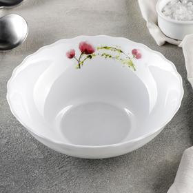 {{photo.Alt || photo.Description || 'Тарелка суповая Доляна «Нежные маки», d=18 см, цвет белый'}}
