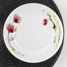 Тарелка десертная Доляна «Нежные маки», d=20 см