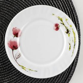 Тарелка пирожковая Доляна «Нежные маки», d=15 см