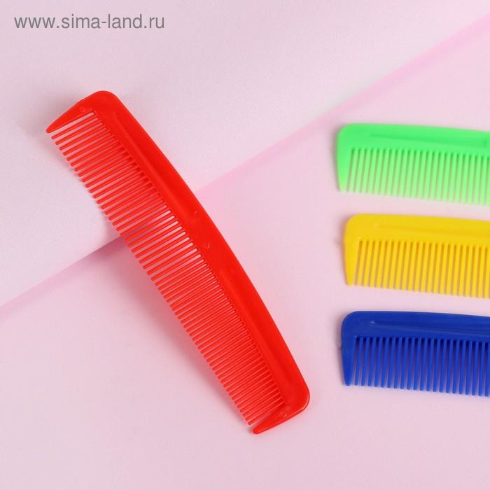 Расчёска простая, цвета МИКС