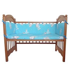 Бортик «Слонят», 4 части (2 части: 30х60 см, 2 части: 30х120 см), цвет голубой