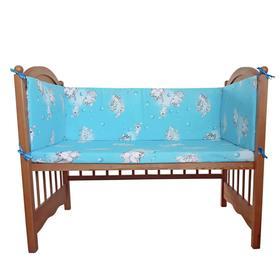 Бортик «Слонята», 4 части (2 части: 40х60 см, 2 части: 40х120 см), цвет голубой