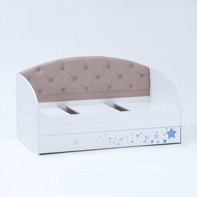 Кровать Звездочка 1600х800  Белый/Кофе с молоком