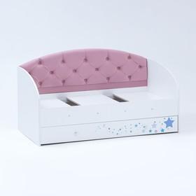 Кровать  Звездочка 1600х800 Белый/Розовый