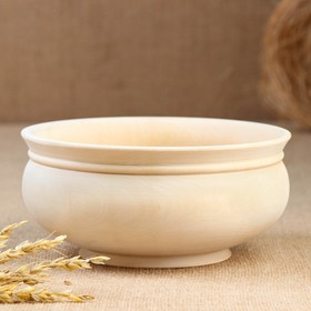 Billet bowl, large, carved, without painting 18x8,5 cm