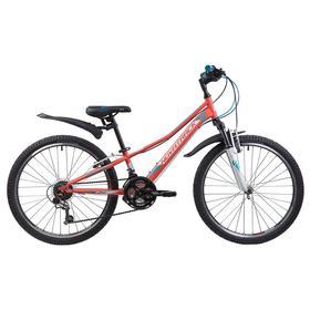 """Велосипед 24"""" Novatrack Valiant, 2019, цвет коралловый, размер 10"""""""