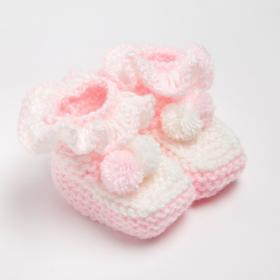 Пинетки, цвет бледно-розовый, размер 15
