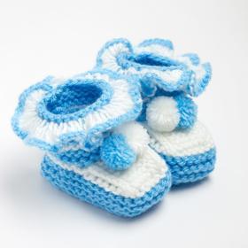 Пинетки, цвет голубой, размер 16