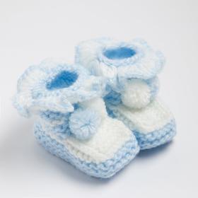 Пинетки, цвет светло-голубой, размер 15