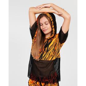 Костюм женский (свитшот, брюки), цвет оранжевый, размер 42
