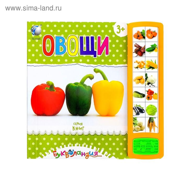 """Книга для детей обучающая """"Овощи"""", русская озвучка, работает от батареек, МИКС, 14 стр."""