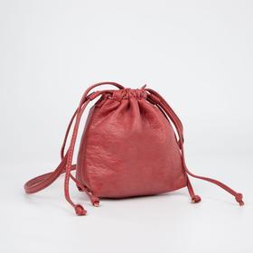 Кросс-боди, отдел на шнурке, цвет красный