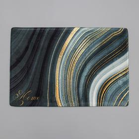 Коврик Доляна «Камень», 40×60 см, цвет малахитовый