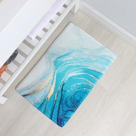 Коврик Доляна «Камень», 40×60 см, цвет бирюзовый