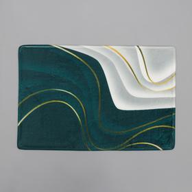 Коврик Доляна «Камень», 40×60 см, цвет зелёный