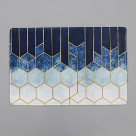 Коврик Доляна «Космос», 40×60 см, цвет голубой
