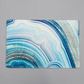 Коврик Доляна «Камень», 40×60 см, цвет голубой
