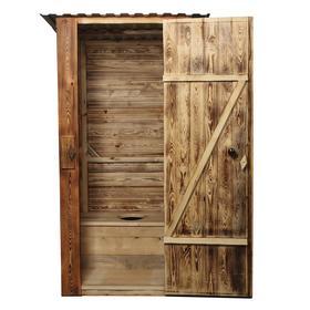 Туалет разборный, со стульчаком, вагонка с обжигом 2 стороны, 12,5 мм 1 и 2 - го сорта, «Эконом»