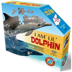 Контурный пазл 100 элементов Дельфин 5+