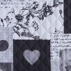 """Комплект """"Этель"""" Grey heart, покрывало 180х220  ±5 см и наволочки 50х70 - 2 шт, микрофибра - фото 861774"""