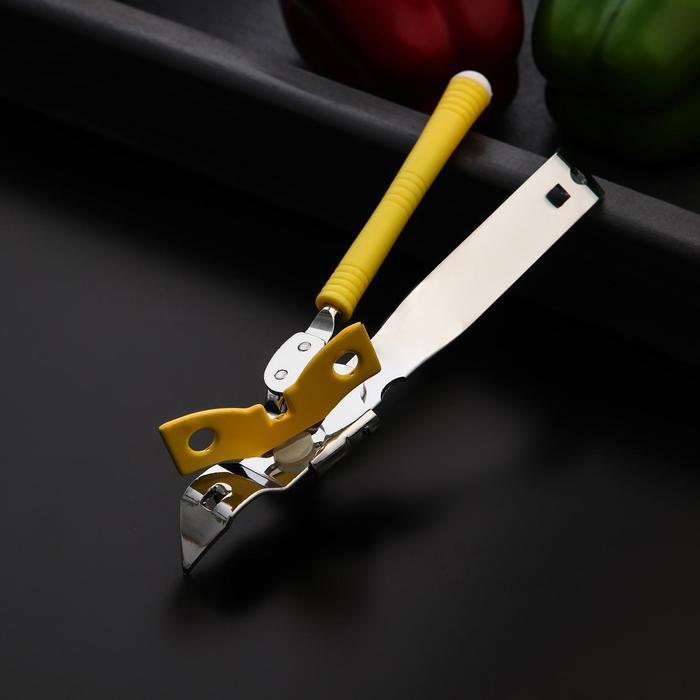Нож консервный Доляна «Оригинал», 16 см, цвет жёлтый