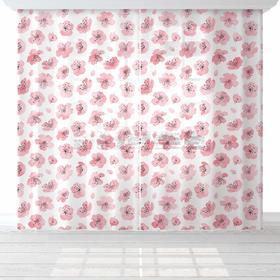 """Комплект тюлей """"Этель"""" Flowers, 145*260 см-2 шт, вуаль"""