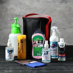 Подарочный набор для ухода и мойки авто Grand Caratt, в сумке, 8 предметов