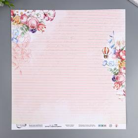 """Бумага для скрапбукинга Mr.Painter """"Давным-давно 3"""" 30,5x30,5 см, 190 гр/м2"""