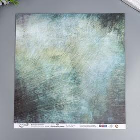 """Бумага для скрапбукинга Mr.Painter """"Механическое сердце"""" 30,5x30,5 см, 190 гр/м2"""