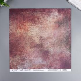 """Бумага для скрапбукинга Mr.Painter """"Механическое сердце 3"""" 30,5x30,5 см, 190 гр/м2"""