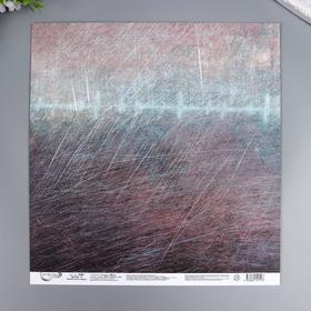"""Бумага для скрапбукинга Mr.Painter """"Механическое сердце 4"""" 30,5x30,5 см, 190 гр/м2"""