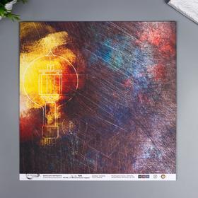 """Бумага для скрапбукинга Mr.Painter """"Механическое сердце 5"""" 30,5x30,5 см, 190 гр/м2"""