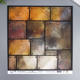 """Бумага для скрапбукинга Mr.Painter """"Механическое сердце 6"""" 30,5x30,5 см, 190 гр/м2"""