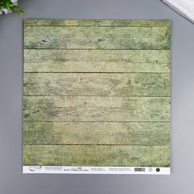 """Бумага для скрапбукинга Mr.Painter """"Вокруг меня Хаки 2"""" 30,5x30,5 см, 190 гр/м2"""