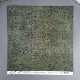 """Бумага для скрапбукинга Mr.Painter """"Вокруг меня Хаки 5"""" 30,5x30,5 см, 190 гр/м2"""