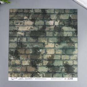 "Бумага для скрапбукинга Mr.Painter ""Армейская жизнь"" 30,5x30,5 см, 190 гр/м2"