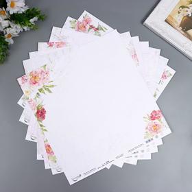 """Набор бумаги для скрапбукинга """"Дом с вопспоминаниями"""" 7 листов, 30.5x30.5 см, 190 гр/м2"""