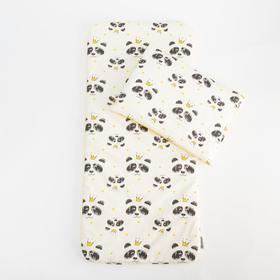 Комплект в коляску Крошка Я «Милые панды», 2 предмета, 100% хлопок, сатин