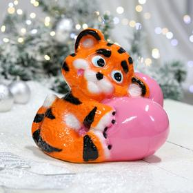 "Копилка ""Тигрёнок на сердце"", оранжевый, керамика"