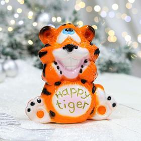 """Копилка """"Тигр счастливый"""", оранжевый, керамика"""