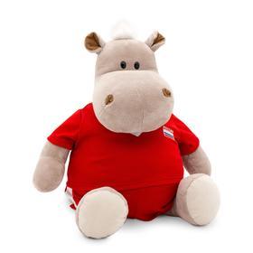 Мягкая игрушка «Бегемот: Футболист», 30 см