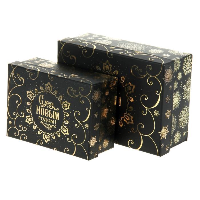 """Набор подарочных коробок 2 в 1 """"Лаконичная"""", 22 х16 см"""